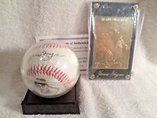 Honus Wagner NEW Autographed Replica Baseball with Gold Card