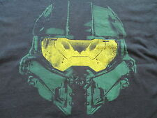 Halo 4 Master Chief Helmet Black Green Yellow T Shirt Size XL X-Large
