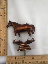 Beautiful Spotted White & Copper/Brown or Dark Brown Horse Plastic Trophy Topper