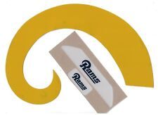 LOS ANGELES RAMS YELLOW FULL SIZE FOOTBALL HELMET DECALS W/BUMPERS