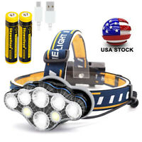 Details about  /USB Rechargeable 350000LM LED Headlamp Headlight Head Outdoor  Torch
