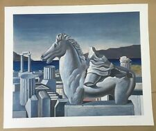 Sarantis Karavouzis, Greek Art, Original Silk Screen Print, Very Rare