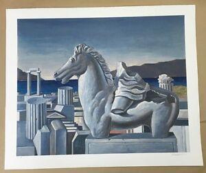 Sarantis Karavouzis, Greek Art, Original Silk Screen Print, Very Rare