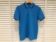 FRED PERRY POLO SHIRT SLIM FIT TWIN TIPPED Men's Size SMALL