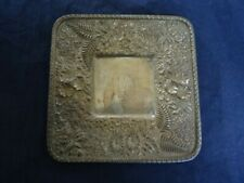 Antique Kirk & Son 11oz  3173 Repousse Floral Very Ornate Coin Silver Tray