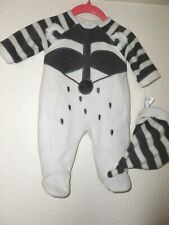 Next Badger Face  Pram Suit  with Hat Baby Girl/Boy newborn nwt