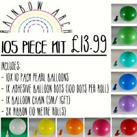 Rainbow Arch Kit Pastel Balloons Garland Birthday Wedding Party Baby Shower