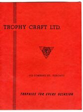 TROPHY CRAFT LTD. TROPHIES FOR EVERY OCCASION 1960s Sales Brochure Toronto