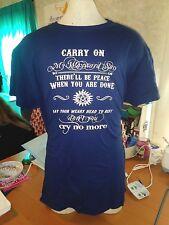 "SUPERNATURAL Unisex ""Carry On My Wayward Son"" T-Shirt - Sizes Small - 3X"