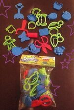 New 20 Pc Play Dough Molds Lot Turtle Crab Duck & More Cookie Cutters Party Fun