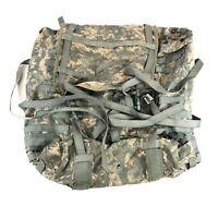 USGI Large Combat Rucksack Bag, US Army MOLLE Backpack, ACU, NO FRAME DEFECT