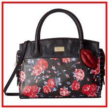 NWT Mandi Betsey Johnson Red Rose Satchel Crossbody Purse Handbag LIPS Charm $88