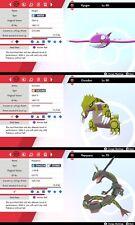 Ultra Shiny 6IV Event Kyogre, Groudon, Rayquaza Tutor Moves Pokémon Sword/Shield