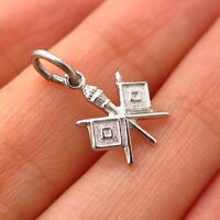 925 Sterling Silver Vintage Old Stock US Army Signal Corps Design Charm Pendant