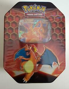 Pokemon Hidden Fates Charizard Glurak GX Tin Box (EN)