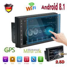"7"" Android 8.1 AUTORADIO mit GPS Navigation NAVI BLUETOOTH WIFI DOPPEL 2 DIN MP3"