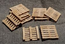 "LMH Detail Part WOODEN PALLETS Wood BLOCK Pallet 42"" x 48"" O-Scale 10 Piece"