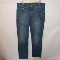 Mens Levis Jeans 511 Size 30 x 33 Blue Denim Straight Leg Casual Medium Wash