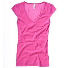 Cotton V Neck Short Sleeve Casual Tops & Shirts for Women