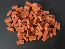 100 REAL BRICK Red Miniature Bricks, Simply Open the pack and Build!