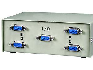 4-Port VGA Monitor Switch Box 55