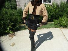 Fab Camel Cashmere wool Mink Fur Coat Jacket Bolero S