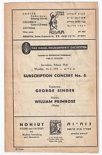 VRONSKY & BABIN DUE PIANO PROGRAM ISRAEL RARE MOZART BACH HANDEL SALOMON 1949