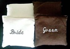 Bride and Groom wedding (set of 8) bags Corn hole bags