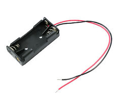 AAA x 2 Open Battery Holder Box 15cm Wires