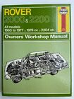 ROVER 2000 & 2200S ( 1963 TO 1977 ) OWNERS WORKSHOP MANUAL No.34 - Haynes