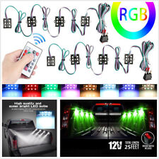 8 X 48LED Car Under Body LED Lighting Bed LED Lights Kit Atmosphere Lamps+Remote