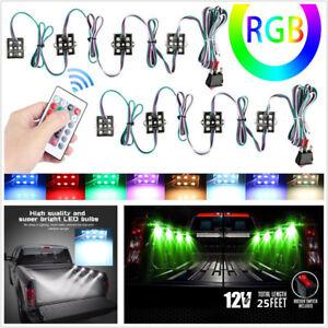 8 X 48LED Car Under Body LED Lighting Bed LED Lights Kit Atmosphere Lamps+Remote