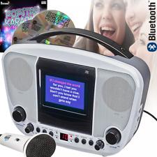 Portable Karaoke Boom Box Machine CD CD-R CD-RW MP3G CD+G Bluetooth & USB Black