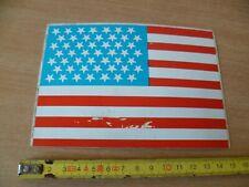 (A) AUTOCOLLANT VINTAGE  DRAPEAU DES USA