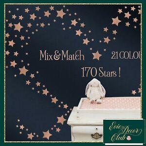 Vinyl Decals Star Wall Stickers Room Decor Nursery decoration Metallic-21colours