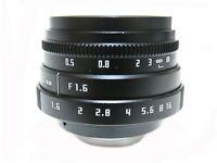 FUJIAN 35mm F1.6 CCTV Cine C Lens For Micro M4/3 NEX EOS Nikon-AI N1 EOS.M FX PQ