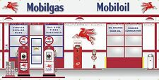 MOBIL GAS STATION SCENE CUSTOM JOB WALL MURAL SIGN BANNER GARAGE ART 8' X 16'