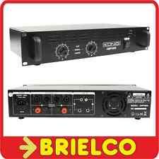 """AMPLIFICADOR POTENCIA AUDIO HIFI ETAPA 2X240W RACK 19"""" RCA JACK XLR CANON BD6440"""