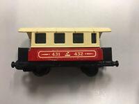 Matchbox Eisenbahn Lesney Nr.44 - Passenger Coach Zug Waggon mit Scheiben