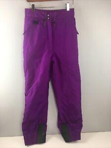 Couloir Womens Snow Pants Ski Size US 6 Purple Entrant Supersoft 100% Nylon