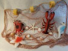 New listing Authentic Fishing Net,Large Fish Netting Display, Starfish, Seahorse 10' x 8'
