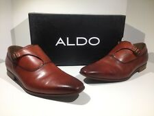 Aldo Coewen Men's Size 12 Brownish Red Leather Dress Shoes X4-2534