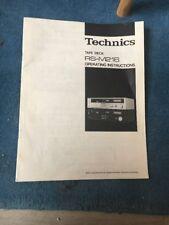Mode D Emploi Notice Technics Rs-m216 Tape Desk Français English Deutsch