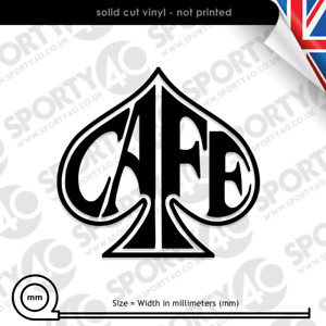 Cafe Racer - Ace of Spades - Vinyl Decals / Sticker -Motorbike Scooter 2213-0519