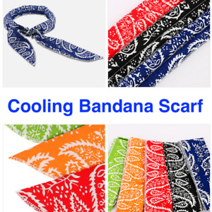 Ice Cooling Bandana Outdoor Sport Body Scarf Wrap Cool Headband Neck Cooler