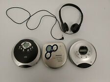 3 Portable Cd Players. 1 Pair Of Headphones. Tested.