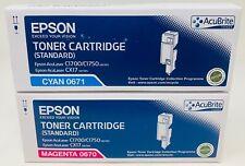 EPSON 0670 + 0671 TONER ORIGINALE MAGENTA+CIANO ACULASER C1700/C1750W/CX17Nf