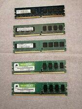 RAM DDR2 800Mhz SAMSUNG CRUCIAL 4GB + 1GB PC2-6400U 240pin Memoria per DESKTOP