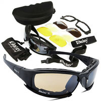 4Lens Men's Army Goggles Sunglasses Outdoor Sports Tactical Tactical Glasses Kit