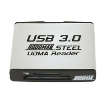 Hoodman Raw Steel Super Speed USB 3.00 UDMA Card Reader